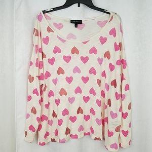 Lane Bryant Heart Sweater Size 22/24